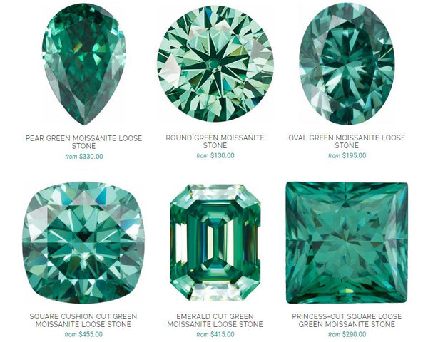 Green Moissanite Shapes