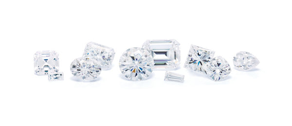 variety of moissanite shapes