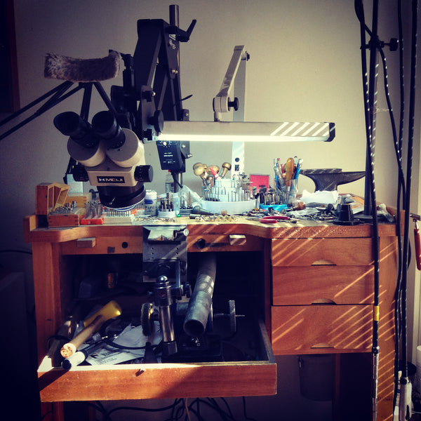 My messy bench where all the magic happens