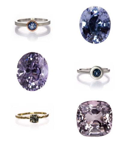 spinel rings and loose gemstones