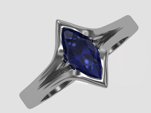 rendering marquise sapphire ring
