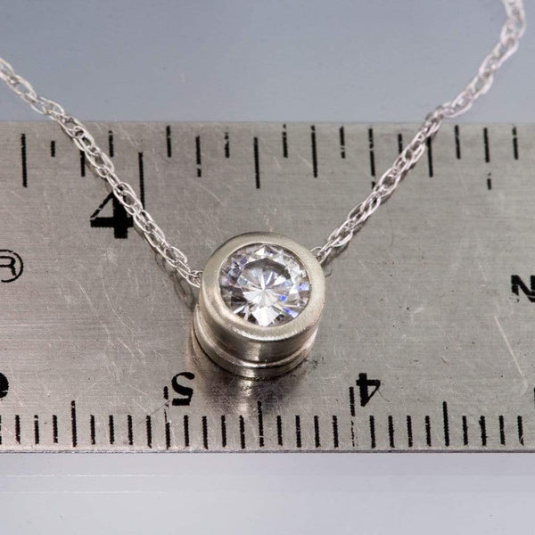 Classic Round 0.5ct Moissanite Slide Pendant Necklace