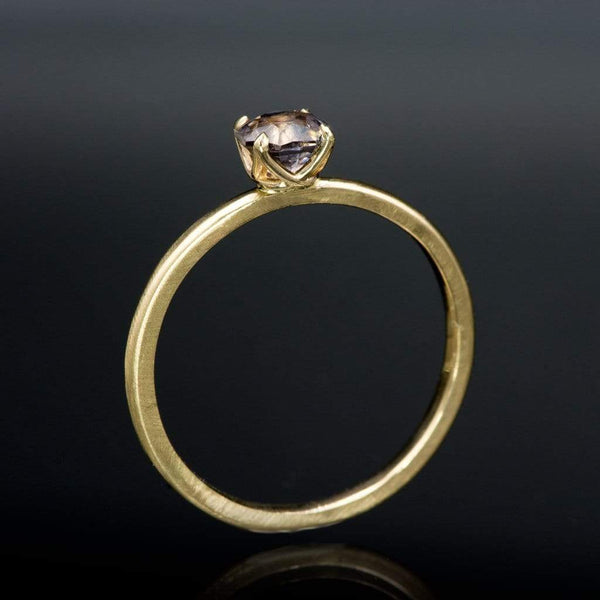 Octagon Lavender Spinel Prong Set Stacking Engagement Ring, Ready To Ship, size 5-9