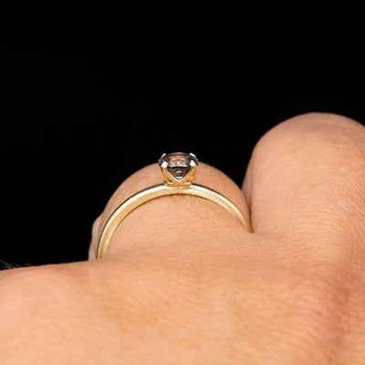 Octagon Lavender Spinel Prong Set Stacking Solitaire Engagement Ring, Ready To Ship, size 5-9