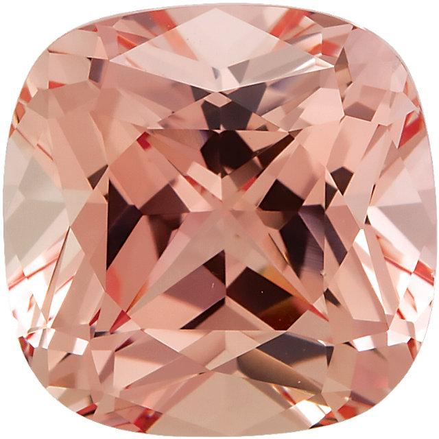 Square Cushion Cut Chatham Lab Created Champagne Sapphire Gemstone