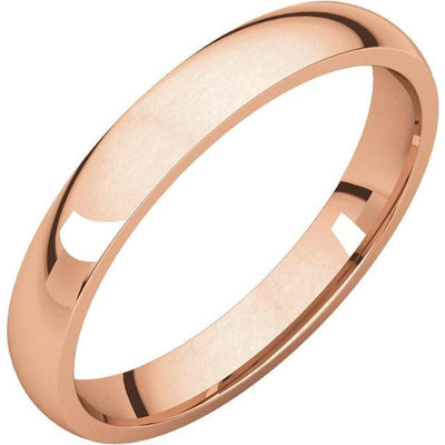 Women's Comfort Fit Narrow Domed Wedding Band