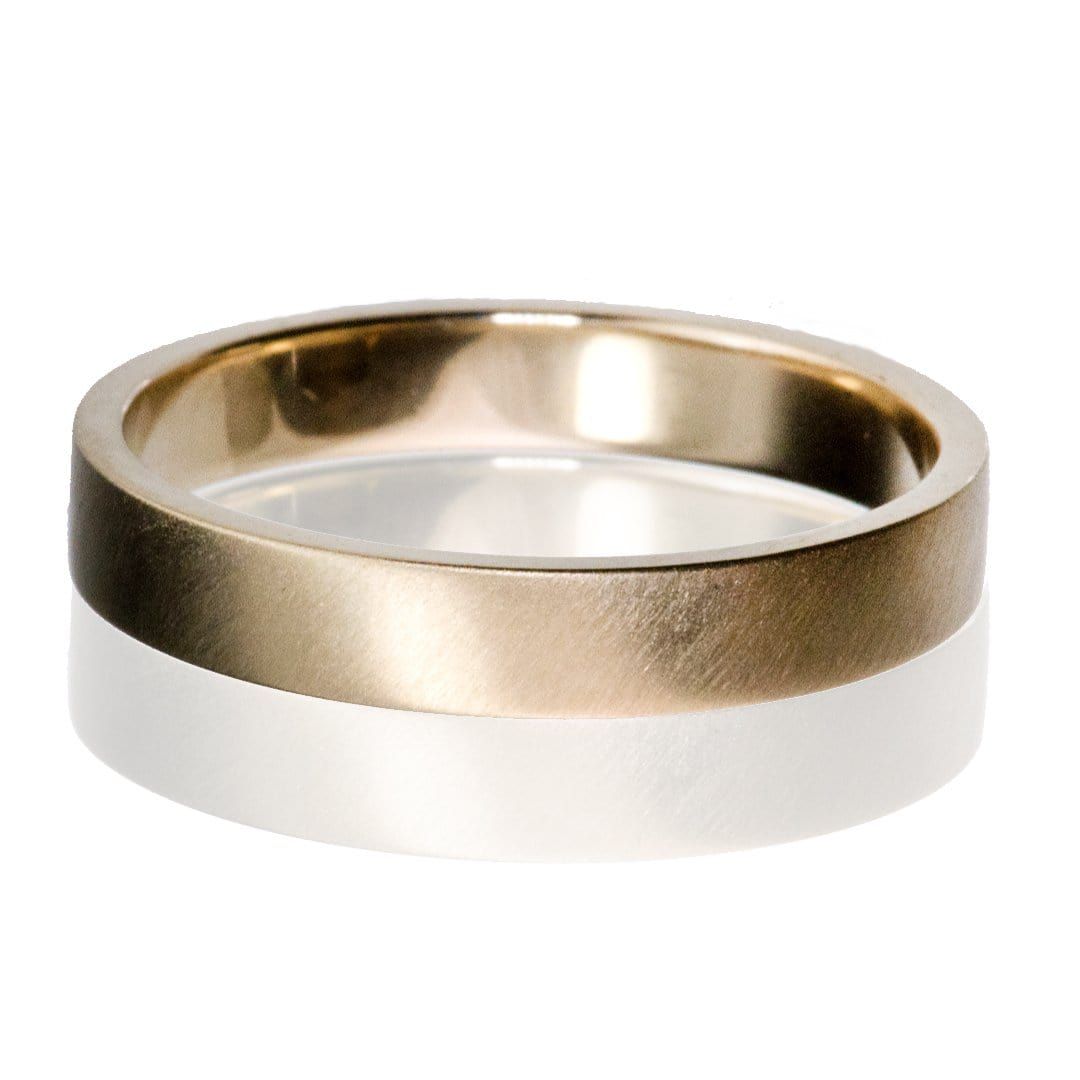 Flat Simple Gold Wedding Band