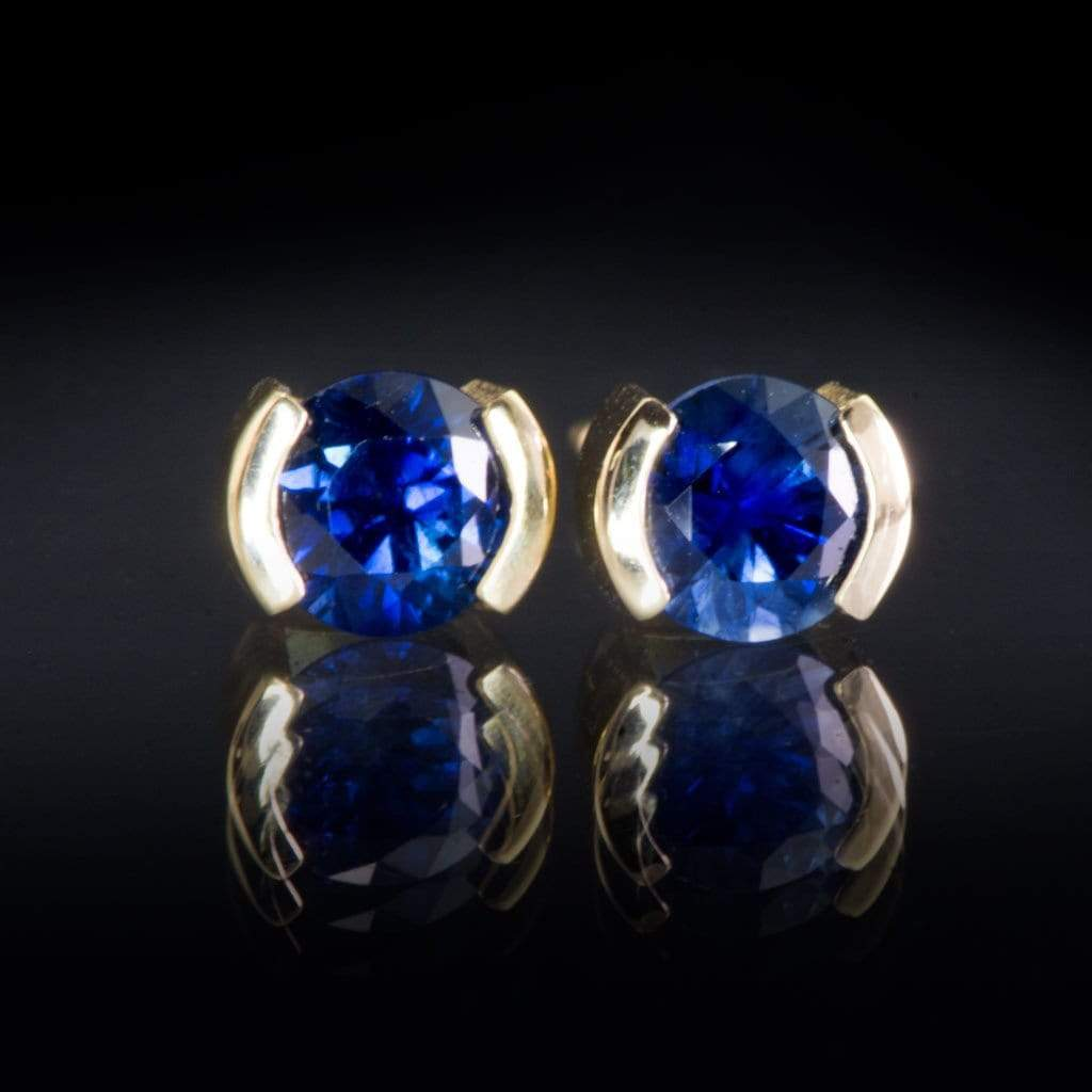 from image yellow gold oval stud earrings womens sold sapphire