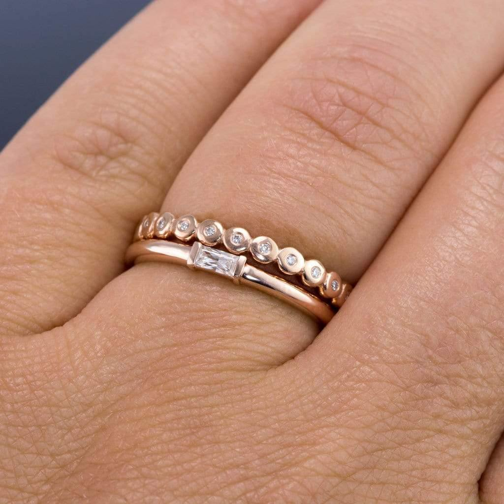 Baguette Diamond Stacking Promise Or Engagement Ring