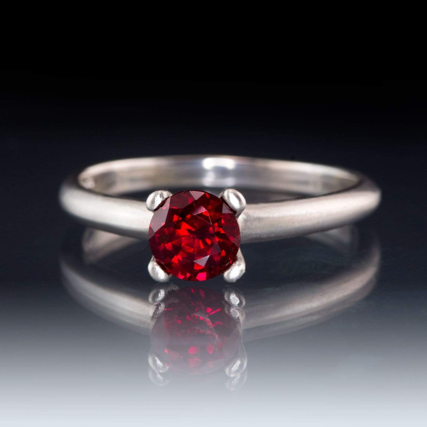 Chatham Ruby Prong Set Solitaire Engagement Ring