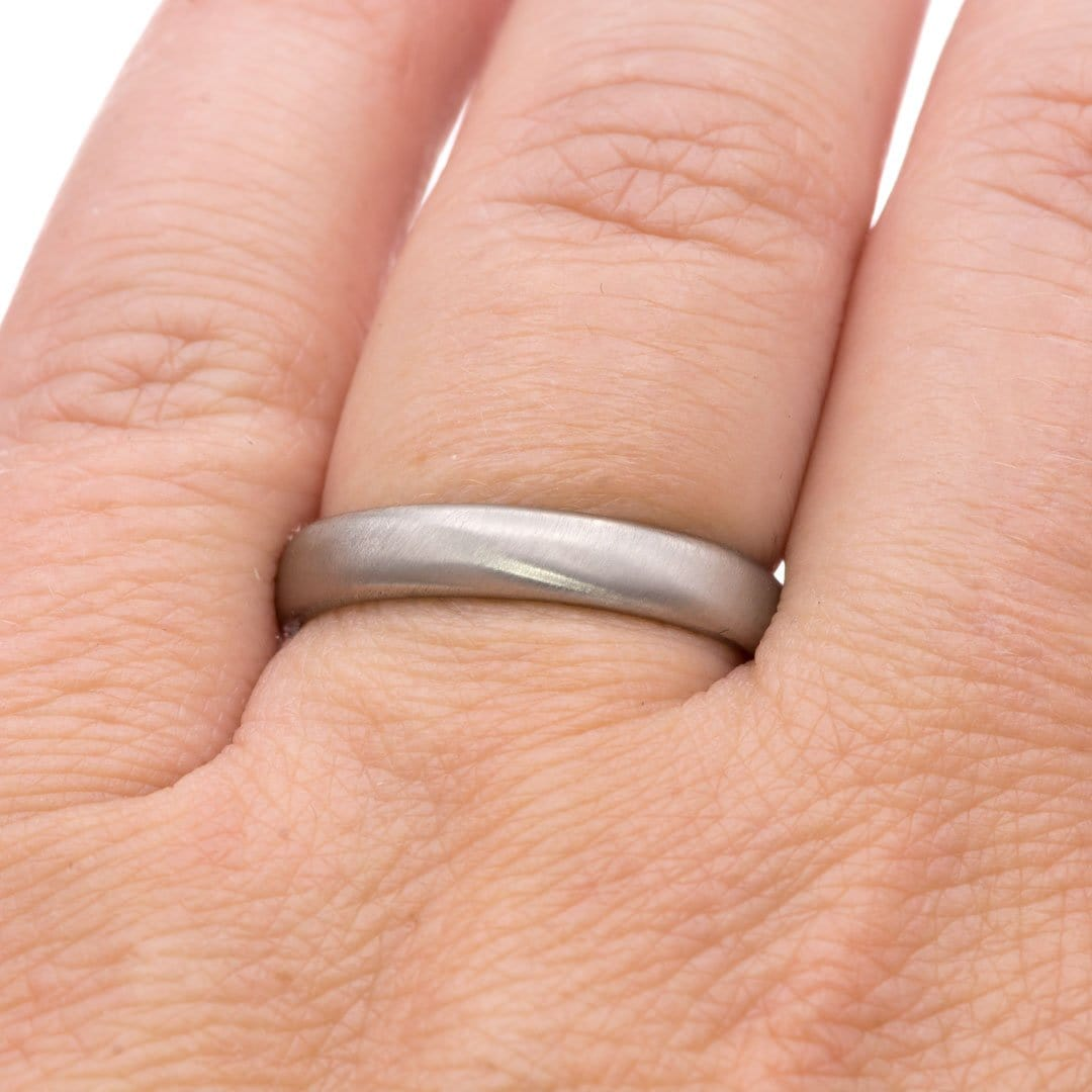 Wide Slightly Domed Modern Simple Wedding Band