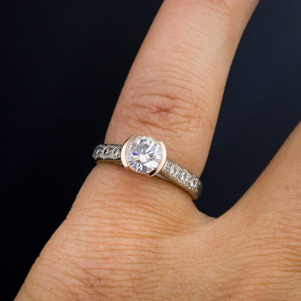 white ring model rhodium platinum and mate classic diamond en caracas us plated polished