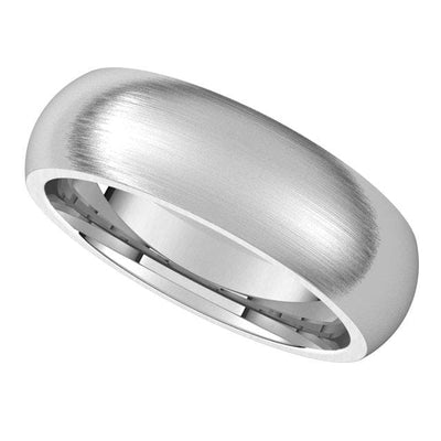 Men's Comfort Fit Classic Domed Wedding Band