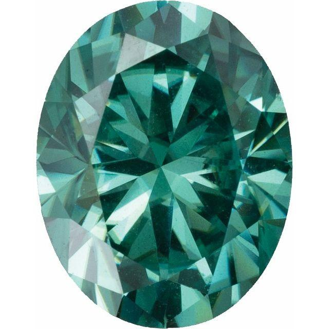 Oval Green Moissanite Loose Stone
