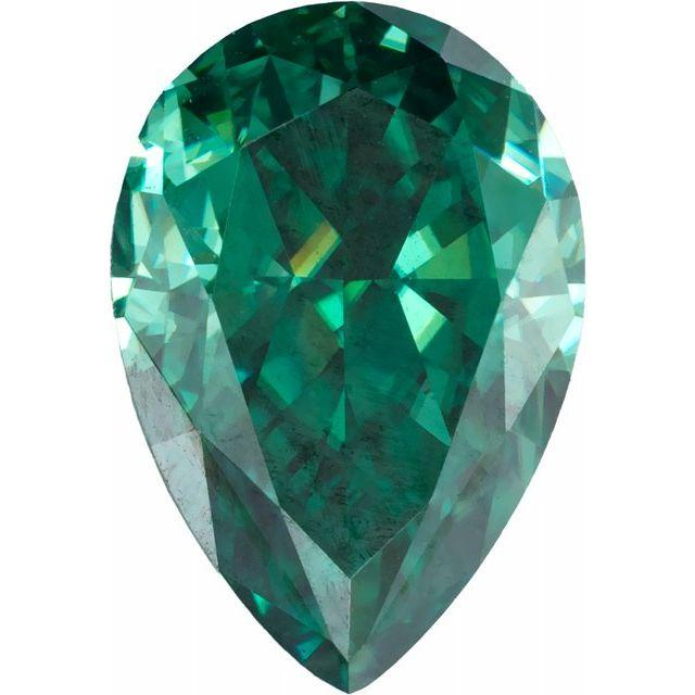 Pear Green Moissanite Loose Stone