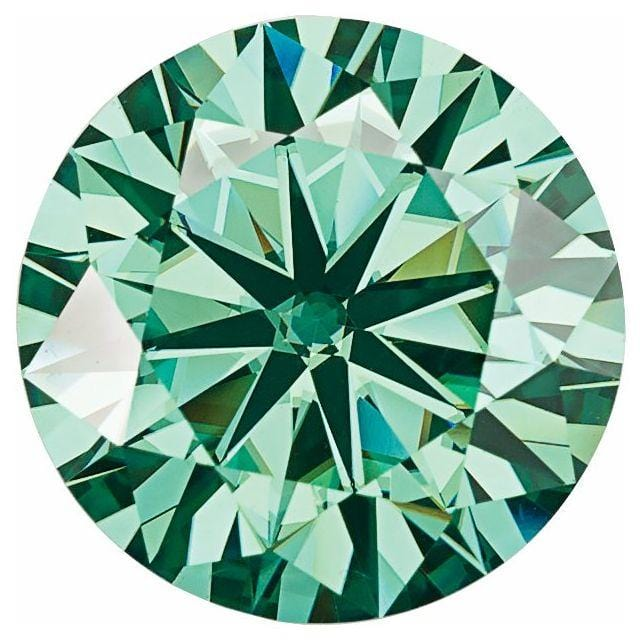 Round Green Moissanite Stone