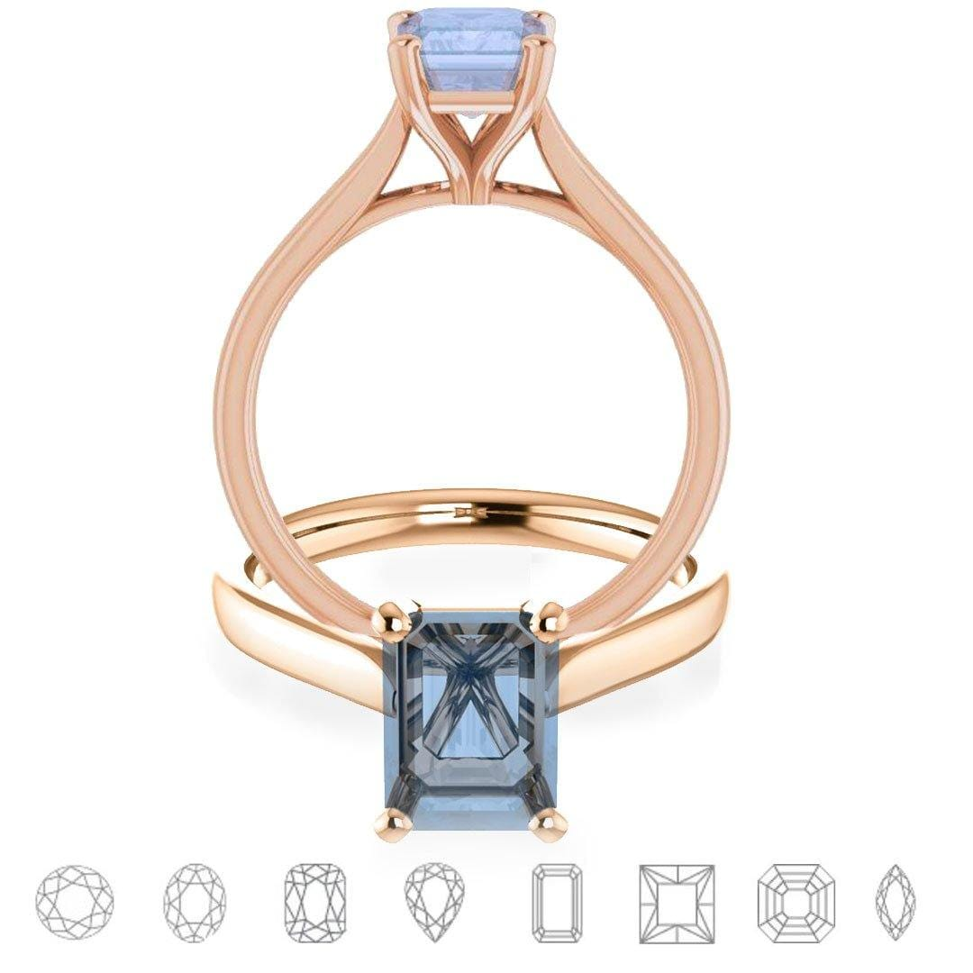 Amelia Prong Set Cathedral Solitaire Engagement Ring - Setting only