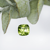Cushion Custom Cut Green 5.2mm/0.87ct Australian Sapphire Loose Gemstone