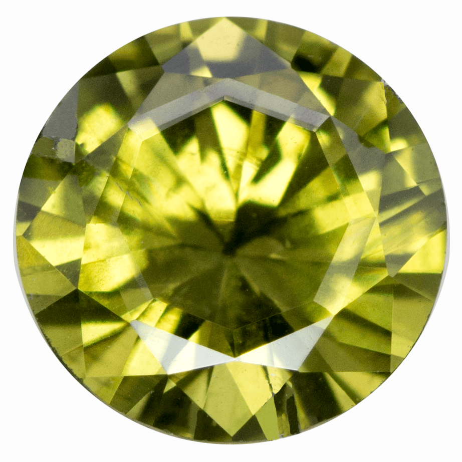 Round Custom Cut Olive Green 5.8mm/0.81ct Australian Sapphire Loose Gemstone