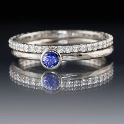 3/8CTW Diamond, Moissanite or Sapphire Prong Set Eternity Anniversary Wedding Ring - by Nodeform