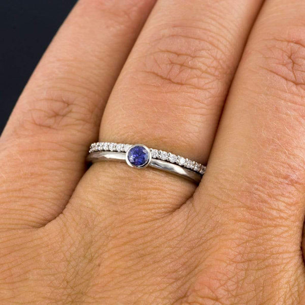3/8CTW Diamond, Moissanite or Sapphire Prong Set Eternity Anniversary Wedding Ring