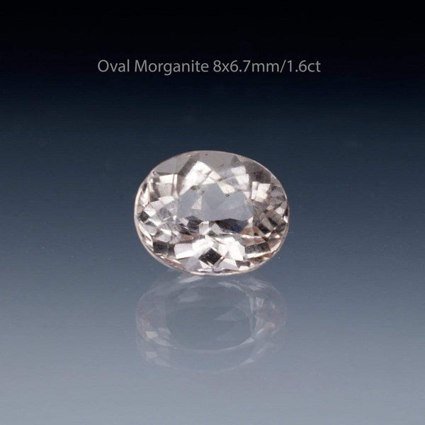 Oval Peach to Pink Morganite Fold Solitaire Engagement Ring