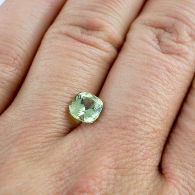 Cushion Green Fair Trade Montana Sapphire Fold Half Bezel Engagement Ring - by Nodeform