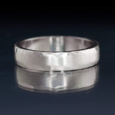 Hammered Edge Textured Wedding Band - by Nodeform