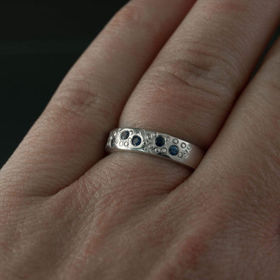 Ruby Star Dust Wedding Ring