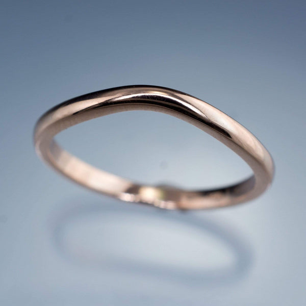 Fitted Contoured Wedding Shadow Band