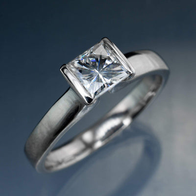 Square Brilliant / Princess Cut Moissanite Stone