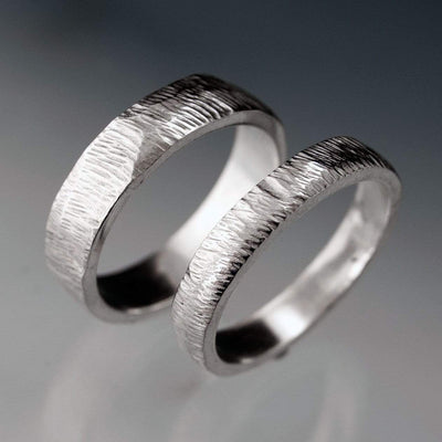 Narrow Rasp Texture Wedding Band - by Nodeform