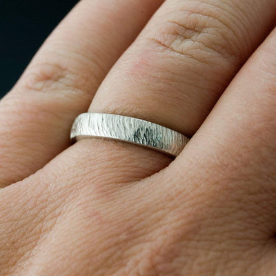 Narrow Rasp Texture Wedding Band