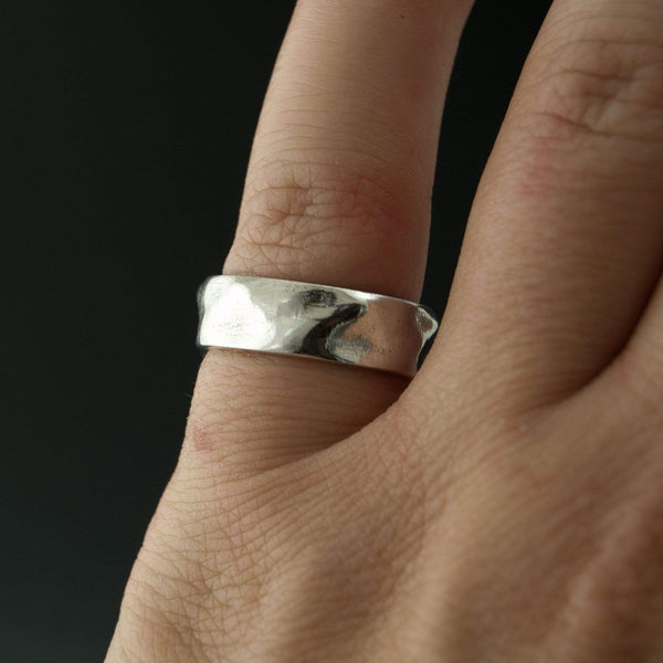 Wrinkle Texture Wedding Band - by Nodeform