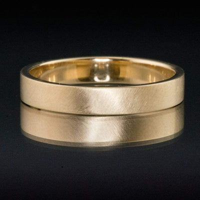 Wide Flat Modern Simple Wedding Band