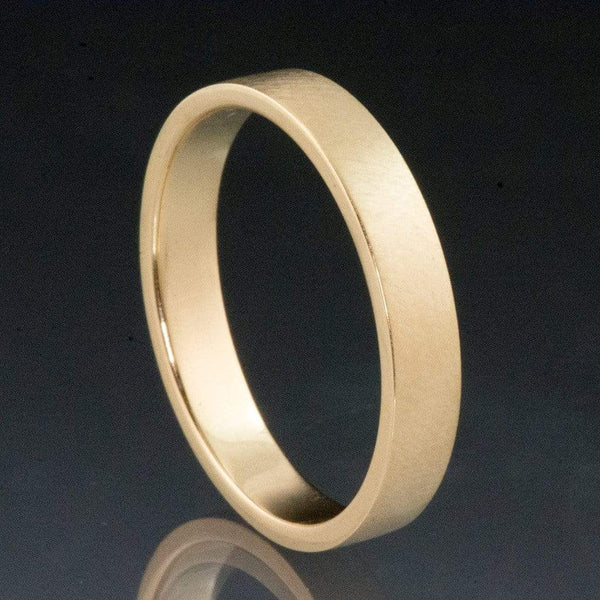 Flat Simple Gold Wedding Band - by Nodeform