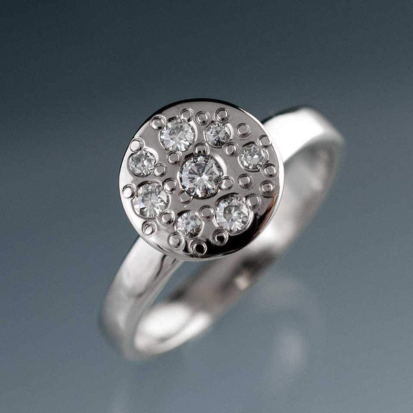 Moissanite Star Dust Engagement Ring - by Nodeform
