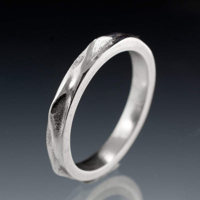 Wrinkle Texture Wedding Band