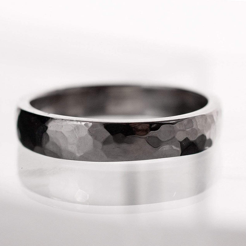 Narrow Hammered Texture Wedding Band - by Nodeform