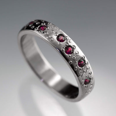 Ruby Star Dust Wedding Ring - by Nodeform