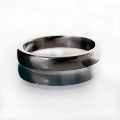 Narrow Domed Wedding Band, 2-4mm Width