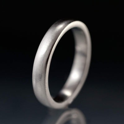 Narrow Domed Wedding Band, 2-4mm Width - by Nodeform