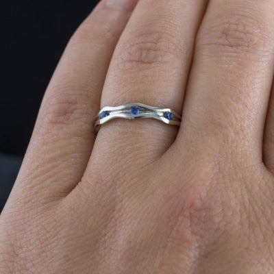 Wave Sapphire Eternity Wedding Ring