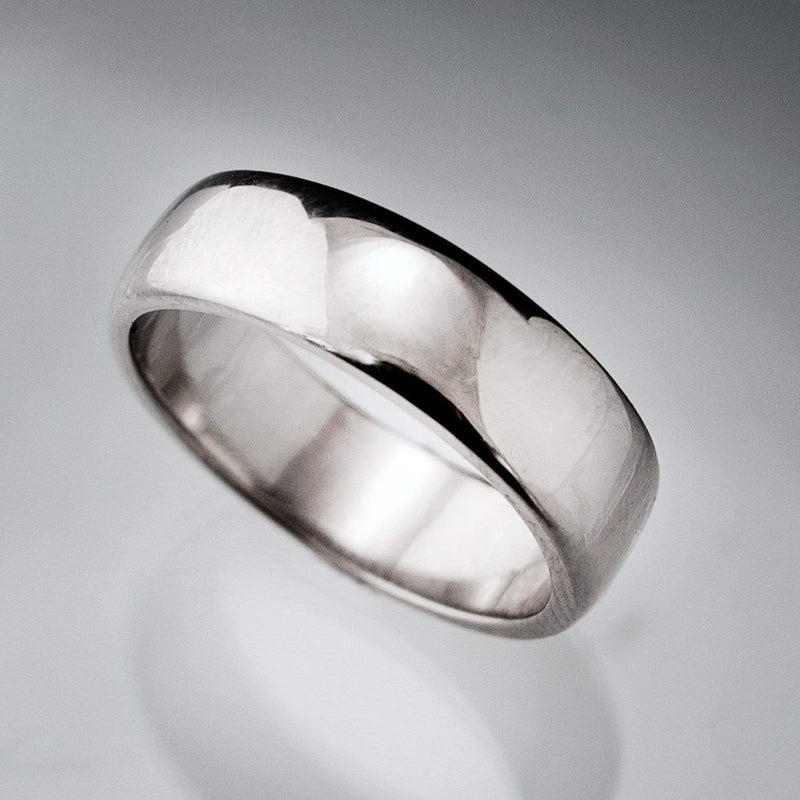 Wide Slightly Domed Modern Simple Wedding Band - by Nodeform