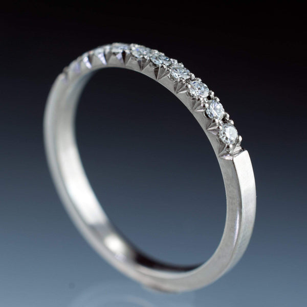 Diamond Pave Ring Stacking Wedding Band