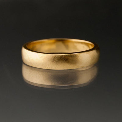 Narrow Domed Yellow or Rose Gold Wedding Band, 2-4mm Width - by Nodeform