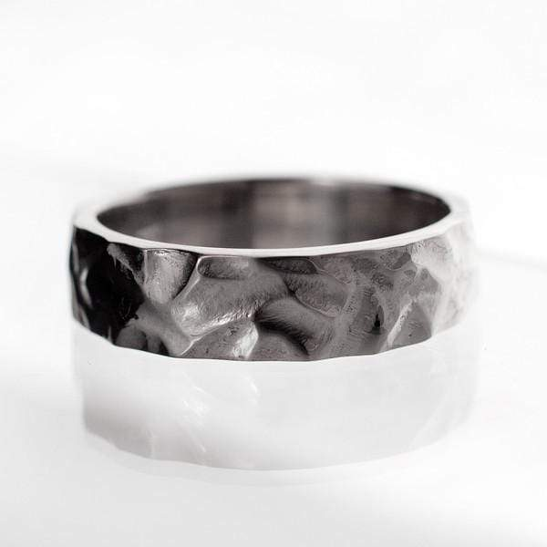 Chisel Texture Rustic Wedding Band - by Nodeform