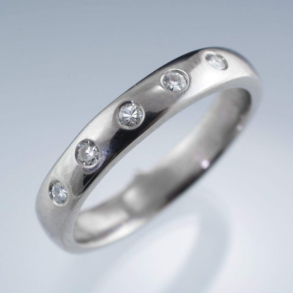Narrow 5 Diamond Wedding Ring