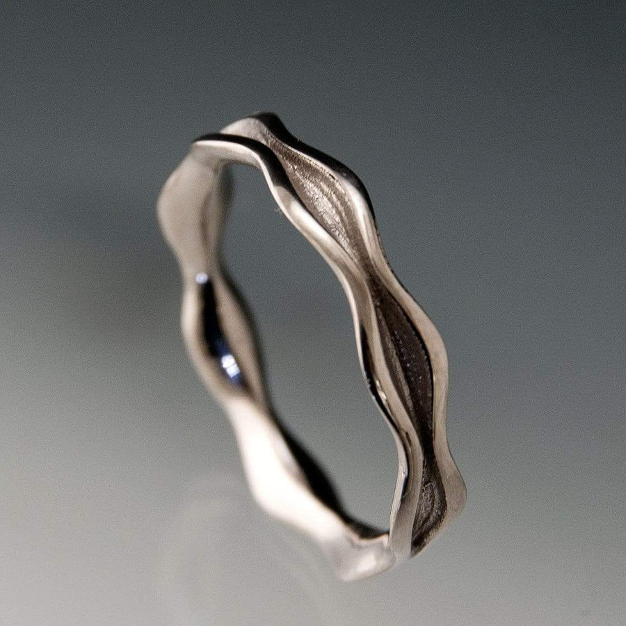 Wave Narrow Wedding Ring Band