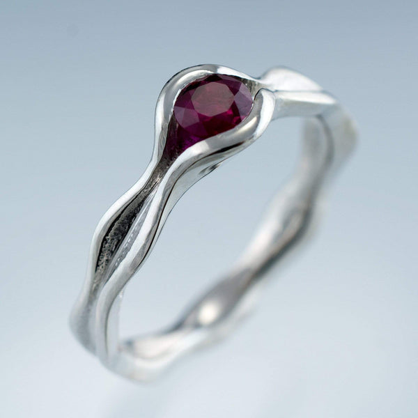 Wave Ruby  Engagement Ring